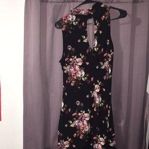 Dresses & Skirts - FLORAL Pink black dress summergreen